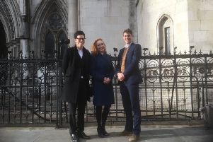 KTHG appeal legal team Leon Glenister, Samantha Broadfoot QC and Rowan Smith