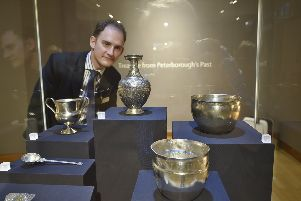Vivacity director of culture Richard Hunt at Peterborough Museum for the Treasures exhibition