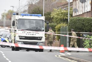 The bomb disposal unit in New Road