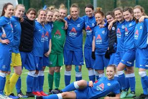 The high-flying Peterborough United Ladies team. Picture: Andy Powell