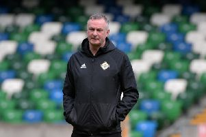 Northern Ireland manager Michael O'Neill pictured at Wednesday's training session