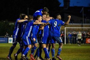 Peterborough Sports players aim to be celebrating again tomorrow.
