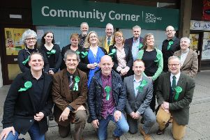 The launch of the Green Party campaign in Cattle Market Road