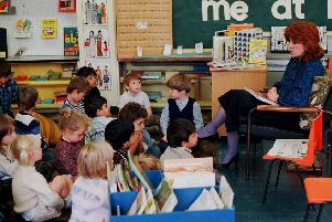 Queen's Drive Infant School in Peterborough during the mid-1980s