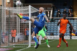 Marcus Maddison in action for Posh against Southend. Photo: Joe Dent/theposh.com.