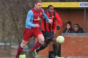 Luke Hunnings scored the winning goal for Deeping Rangers against Cogenhoe.