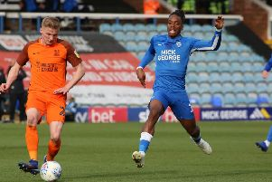 Ivan Toney in action for Posh against Southend. Photo: Joe Dent/theposh.com.