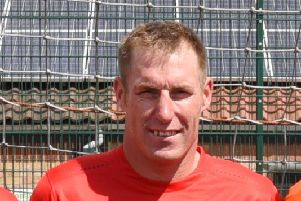 Tom Panton scored the title-clinching goal for Moulton Harrox.