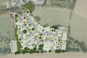The masterplan for The Hardwicks near Shangton
