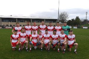The Derry team that lined out in Bellaghy against Wexford on Saturday.