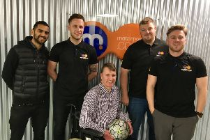 Jason with Motorpoint colleagues
