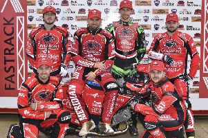 The 2019 Peterborough Panthers team. From the left they are, Bradley Wilson-Dean, Hans Andersen, Charles Wright, Lasse Bjerre, front, Rohan Tungate and Ben Barker.
