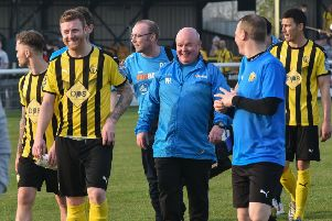Brakes are all smiles at the final whistle as they look forward to another season of National League football. Pictures: Louise Smith