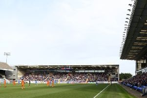 A packed Motorpoint Stand at the ABAX Stadium.
