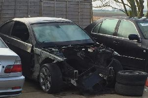 The Mercedes-Benx which was suspected to have been stolen. Photo: Cambridgeshire police