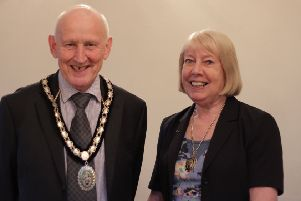 Mayor and Mayoress of Sleaford, Coun Grenville Jackson and his wife Carole. EMN-190104-103739001