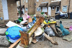 Fly-tipped rubbish in Orton Goldhay ENGEMN00120140602150110