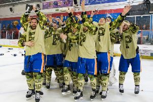 Phantoms celebrate their play-off success.