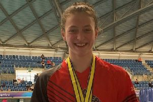 Beth Eagle-Brown swam a new club record and won two bronze medals.
