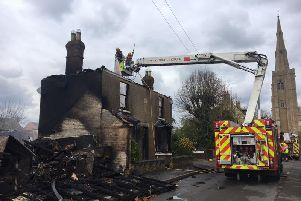 The fire in March. Photo: Cambridgeshire Fire and Rescue Service