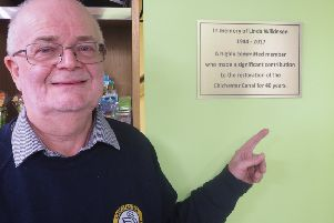 Linda's plaque has been installed at the trust