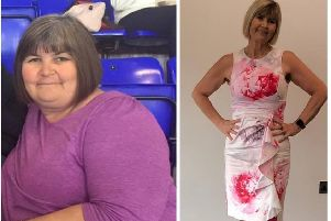 Slimming World's Sammie Todd, before and after her weightloss.