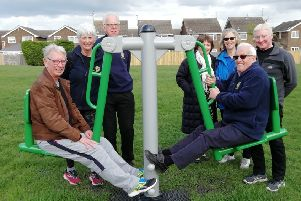 The 'trim trail' opened at Jubilee Park, Deeping St James