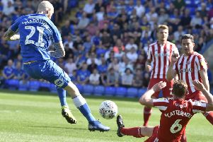 Posh star Marcus Maddison in action against Sunderland. Photo: David Lowndes.