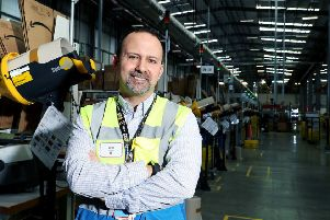 Victor Pulido, site leader at Amazon's fulfilment centre in Peterborough.'''Pictures by Adam Fradgley WeT