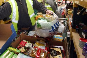 Foodbank demand in Peterborough has risen by 27 per cent