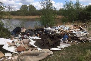 The large fly-tip near Fletton Lakes. Photo: Peterborough Prevention and Enforcement Service