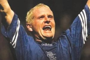 Gazza made more than 70 appearances for Rangers scoring 30 goals along the way.