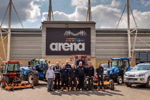 The  grounds team, with head of operations, Ryan Moroney, second from left, front row, and Jason Lunn, venue director, on the right, back row.