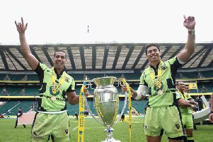 Ken Pisi (left) will say farewell to Franklin's Gardens on Saturday