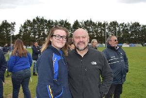 Former British Lions player Brian Moore (right) was an interested spectator at the Worthing 10s festival