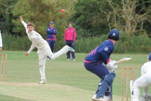 Harrison Craig bowled well for Cambs at Bretton Gate.