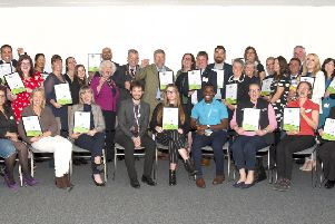 Just some of the winners of the Investors in the Environment awards.
