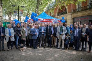 The Conservatives campaigning in Bridge Street