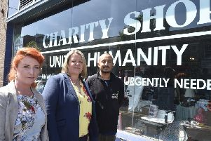 Lisa Forbes, Louise Haigh and burglary victim Shezad Yousaf