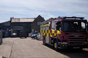 Firefighters at the plant. Photo: Terry Harris