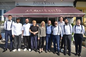 La Bella Vista team, St Leonards. SUS-190516-101256001