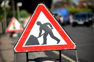 Roadworks sign EMN-171107-082059001