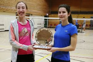 Robyn Warwick (right) with her doubles partner Ellie-Mae Smith EMN-190522-171724002