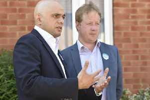 Sajid Javid and Paul Bristow in Gunthorpe
