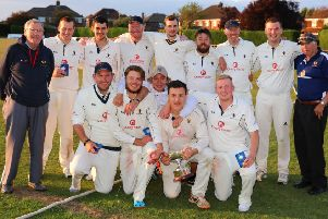 Caistor CC celebrate last August with the George Marshall Trophy EMN-190528-095815002