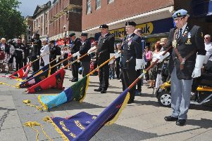 A commemorative service in Peterborough city centre to mark 75 years since the D-Day landings