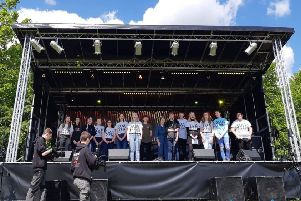 The Encore group performing at the recent Yaxley Festival