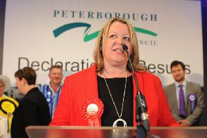 Lisa Forbes giving her victory speech after being elected