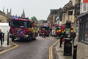 A large number of fire crews attended the incident