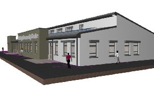 Artist's impression of the new Community Centre in Galliagh.